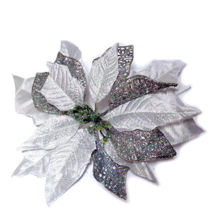 Craciunita argintie, 24~25 cm 1 buc