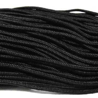 Snur paracord, negru, 4mm 1 m
