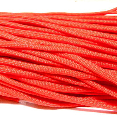 Snur paracord, rosu, 4mm 1 m