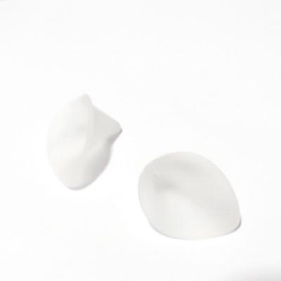 Flori acrilice, frosted, albe, 21x19mm  1 buc