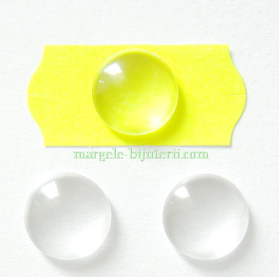Cabochon sticla transparenta, 12x4mm 1 buc