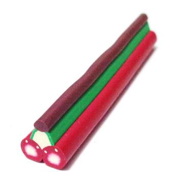 Bete fimo bordo cu verde si maro, 50x10-11mm 1 buc