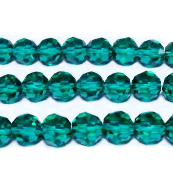 Margele sticla, multifete, verde deschis, semiopace,10x8mm 1 buc