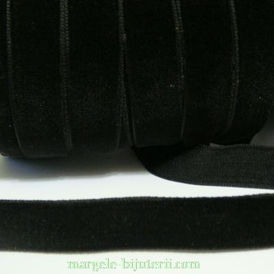 Panglica catifea neagra, 1.3cm 1 m