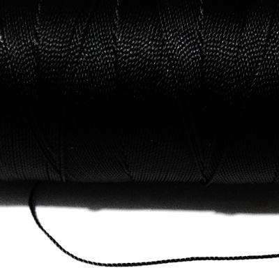 Ata polyester neagra, 0.8 mm 5 m