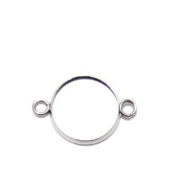 Baza cabochon, otel inoxidabil 304, conector/link, 23x16x2mm, interior: 14mm 1 buc