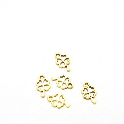 Pandantiv auriu-antic, trifoi cu 4 foi, 10x7mm  1 buc