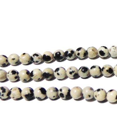 Jasp dalmatian 4.3mm 1 buc