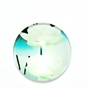Cabochon sticla, cu flori, 20mm, model 1 1 buc