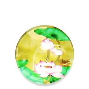 Cabochon sticla, cu flori, 20mm, model 5 1 buc