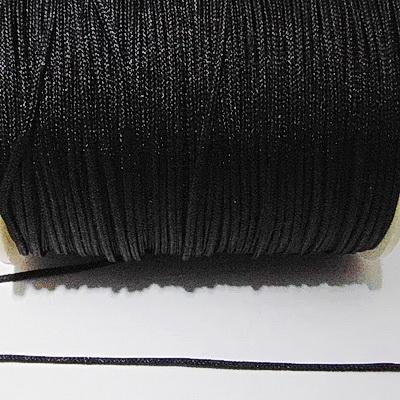 Snur matasos pentru bratari shamballa, negru, grosime 1.5mm 1 m