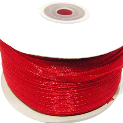 Panglica organza rosu-grena, 6mm-rola 230 metri 1 buc
