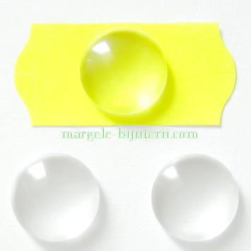 Cabochon sticla transparenta, 20x8.5~9mm 1 buc