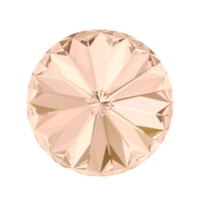 Swarovski Elements, Rivoli 1122 - Light Peach, 8mm 1 buc
