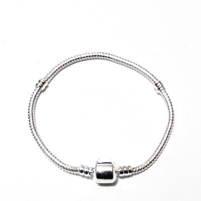 Baza bratara, tip Pandora, argintie, 18x0.3 cm 1 buc
