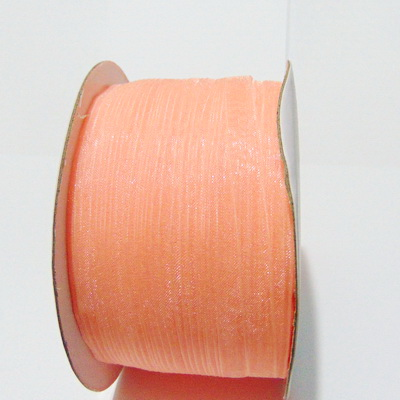 Panglica organza roz-somon, 6mm-rola 230 metri 1 buc