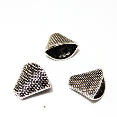 Capat snur, argint tibetan, 18.5x20x11.5mm 1 buc