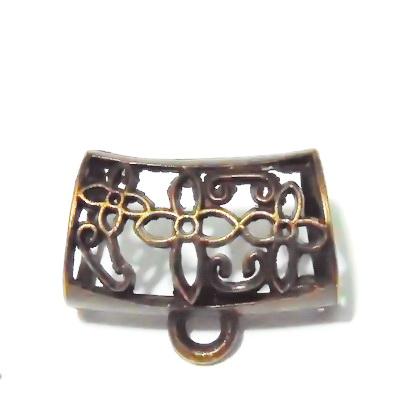 Agatatoare pandantiv, bronz, 35x25x19mm, orificiu 15mm 1 buc