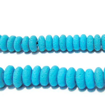 Margele polymer, rondel, turcoaz, 8~9x3~4mm 1 buc