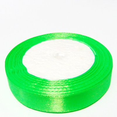 Saten verde-lime, 16 mm-rola 22 metri 1 buc