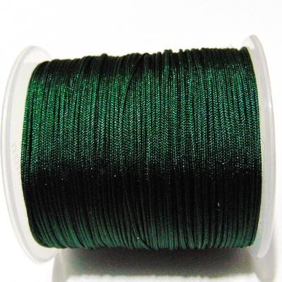Snur matasos pentru bratari shamballa, verde inchis, grosime 1mm 5 m