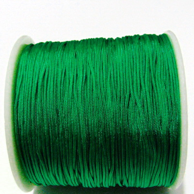 Snur matasos pentru bratari shamballa, verde, grosime 1mm 5 m