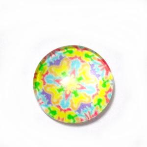 Cabochon sticla, 10mm, ,,Mozaic