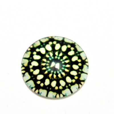 Cabochon sticla, 14mm, ,,Mozaic