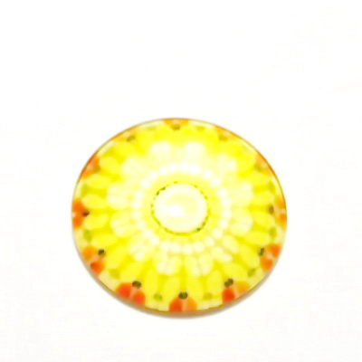 Cabochon sticla, 25mm, ,,Mozaic