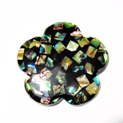 Pandantiv Scoica Paua, floare 50x4mm 1 buc