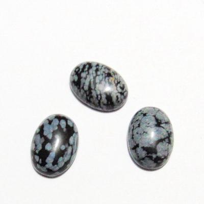 Cabochon obsidian fulg de nea, 18x13mm 1 buc
