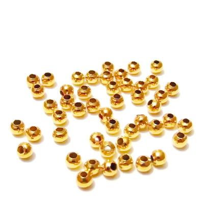 Margele metalice aurii, 3mm cca 100 buc