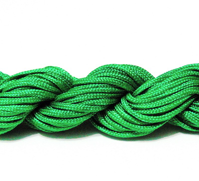 Snur matasos pentru bratari shamballa, verde, 2mm-scul aproximativ 12m 1 buc