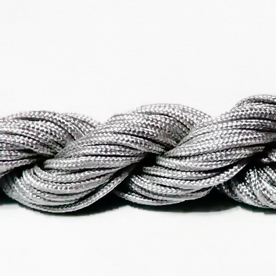 Snur pt. bratari shamballa, gri-argintiu, 2mm-scul aproximativ 12m 1 buc