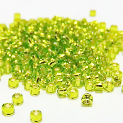 Margele TOHO rotunde 8/0 : Silver-Lined Lime Green 20 g