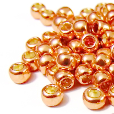 Margele TOHO, rotunde -  6/0 : Galvanized Rose Gold 20 g