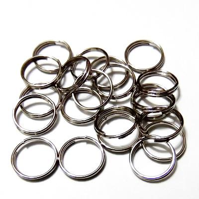 Zale duble, argintiu inchis,10x0.7 mm 50 buc