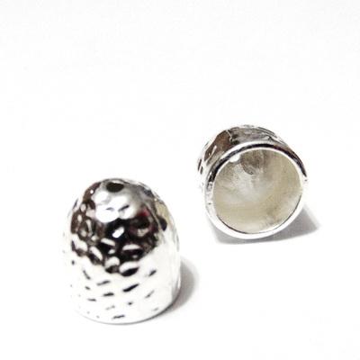 Capac pt. terminatie snur, argintiu, 13x12.5mm 1 buc