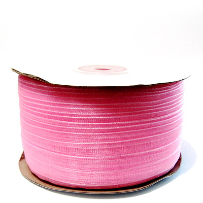 Panglica organza roz, 6mm-rola 230 metri  1 buc