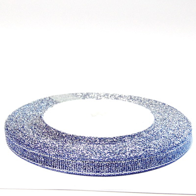Organza mov cu lurex argintiu, 7mm, rola 25 metri 1 buc