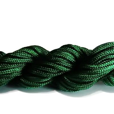 Snur matasos pentru bratari shamballa, verde inchis, 2mm-scul aproximativ 12m 1 buc