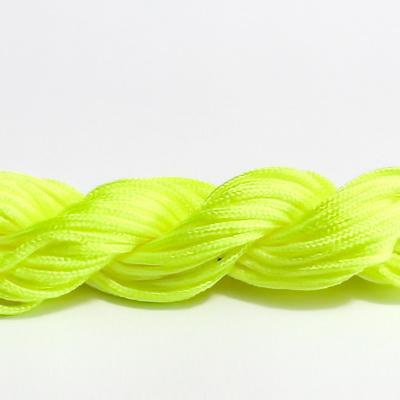 Snur matasos pt bratari shamballa, galben-neon, 2mm-scul aproximativ 12m 1 buc