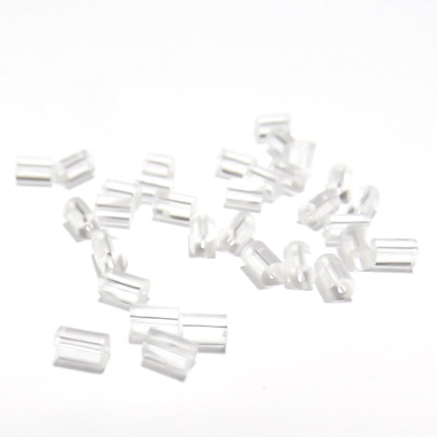 Dop silicon, tubular, transparent, 3x3mm-0.6gr(40-45bc) 1 buc