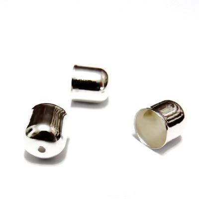Capat snur, argintiu, 10x10mm, interior 9mm 1 buc