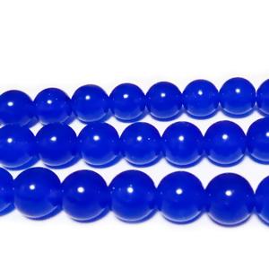 Jad albastru, translucid, 8mm 1 buc
