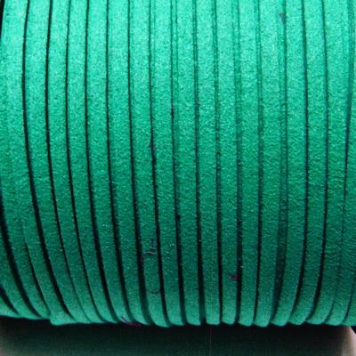 Snur faux suede, verde-smarald, grosime 3x1.5mm 1 m
