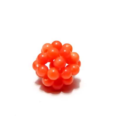 Bulgaras jad portocaliu 3mm, 12mm 1 buc