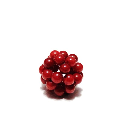 Bulgaras coral rosu inchis 2.5mm, 10mm 1 buc
