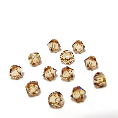 Swarovski Elements, Bicone 5328-Light Colorado Topaz, 4mm 1 buc