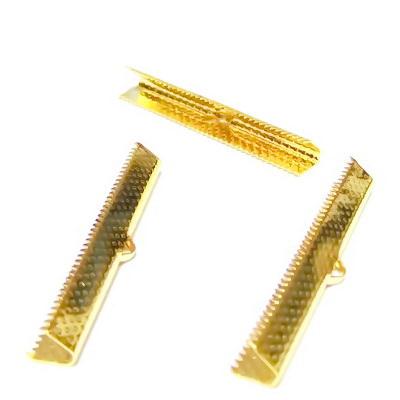 Capat prindere panglici, aurii, 45x6 mm 1 buc